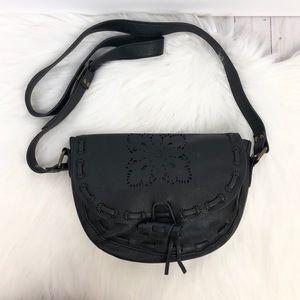 Brandy Melville Cutout Tassel Black Crossbody Bag